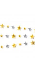 Guirlande étoiles et lune noir rose et or 6,5 x 190 cm