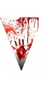 Guirlande fanions sanguinolent Halloween 5 m