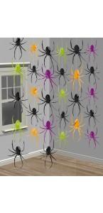 6 Guirlandes fil araignées Halloween