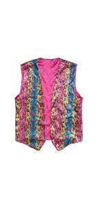 Gilet sequins multicolores L/XL