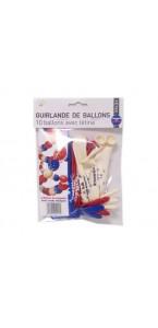 Guirlande 10 ballons latex tricolore Allez la France