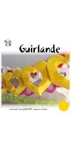 Guirlande 2 cœurs jaunes 4 m