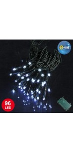 Guirlande 96 leds blanches 8 fonctions 10 m