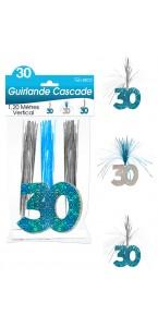 Guirlande Cascade 30 ans Hologramme bleue