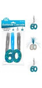 Guirlande Cascade 60 ans Hologramme bleue