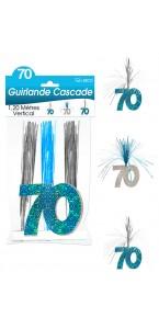 Guirlande Cascade 70 ans Hologramme bleue