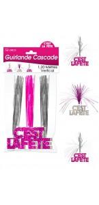 Guirlande Cascade C'est la fête Hogramme rose