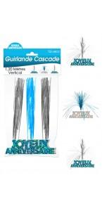 Guirlande Cascade Joyeux Anniversaire bleue