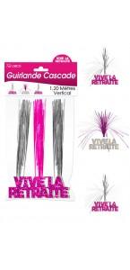 Guirlande Cascade Vive la Retraite Hogramme rose