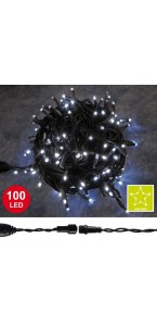 Guirlande connectable 100 leds blancs 10 m