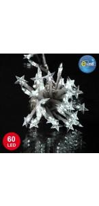 Guirlande Etoile souple 60 leds blanches 8 fonctions 5 m