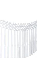 Guirlande franges blanches 3m x 70 cm