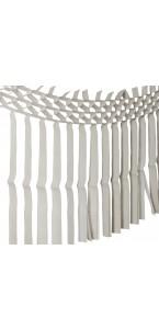 Guirlande franges grises 3m x 70 cm