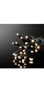 Guirlande lumineuse 100 leds blanc chaud pvc + cuivre 4 m 8 fonctions