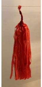 Guirlande Tassel 5 pompons rouges