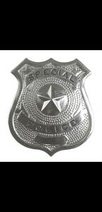 Insigne policier argenté
