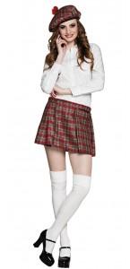 Jupe écossaise Tartan rouge