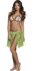 Jupe hawaienne raphia vert 40 cm