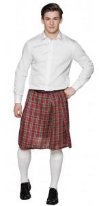 Kilt écossais Tartan rouge