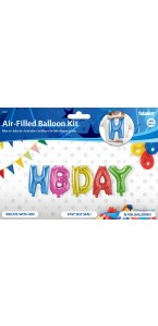 Kit Ballons HBDAY avec ficelle