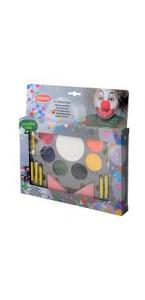 Kit de maquillage 7 couleurs et 6 crayons gras