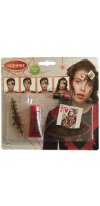Kit de maquillage Reine de Coeur Halloween