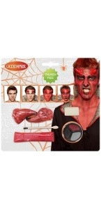 Kit maquillage de Diable  halloween