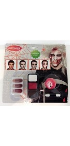Kit maquillage de Zombie homme halloween