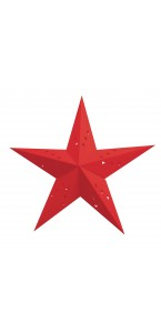 Lanterne étoile rouge 60 cm