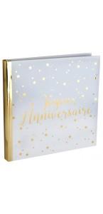 Livre d'or rose gold Joyeux Anniversaire 24 x 24 cm