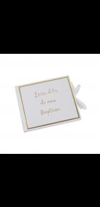 Livre d'or Mon Baptême blanc lettres or 22 x 19 cm