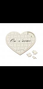 Livre d'or puzzle Coeur On s'aime 46 cœurs  27 x 30 cm