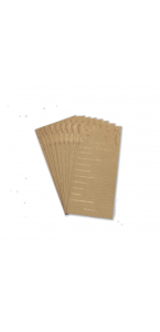 Lot de 10 cartes de vœux Pour les Mariés kraft 22 x 11 cm