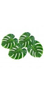 Lot de 10 feuilles palmier en bois tailles assorties à disperser