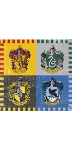 Lot de 16 serviettes Harry Potter 24 x 24 cm