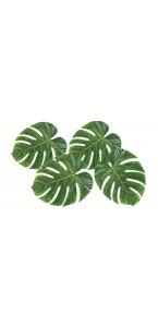 Lot de 4 feuilles de palmier déco Paradise 33 x 27 cm