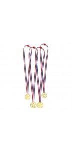 Lot de 4 médailles D 4,5 cm