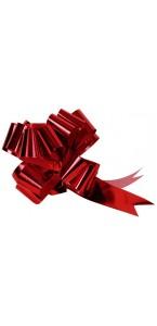 Lot de 5 noeuds rouge métal 31 x 50 mm