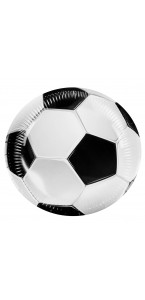 Lot de 6 assiettes Football D 23 cm