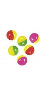 Lot de 6 balles rebondissantes D 3 cm