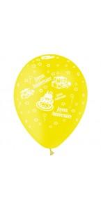 Lot de 8 ballons Sparkling Celebration Happy birthday