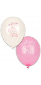 Lot de 6 ballons latex  Baby Shower fille 30 cm