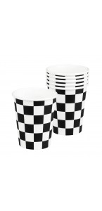 Lot de 6 gobelets jetables Racing 25 cl