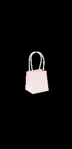 Lot de 6 sacs papier rose poudré 9 x 8 x 10 cm