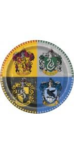 Lot de 8 assiettes Harry Potter 23 cm