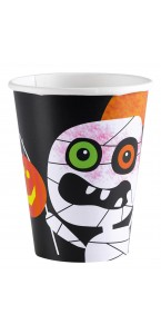 Lot de 8 Gobelets jetables Tick or Treat Halloween 266 M/L