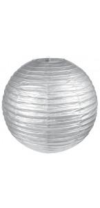 Lanterne chinoise en papier argent 50 cm