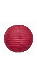 Lanterne rouge en papier D 35 cm