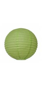 Lanterne vert lime en papier D 35 cm