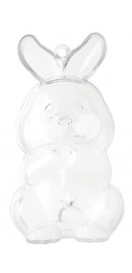 Lapin transparent PM 3,7 x 9 cm